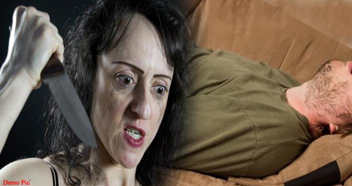 पति की आहिस्ते-आहिस्ते गर्दन रेत रही थी पत्नी, नींद में पत्नी ने की पति की जान लेने की कोशिश, सोते हुए पति की आहिस्ते-आहिस्ते गर्दन रेत रही थी पत्नी, तभी हुआ कुछ ऐसा..