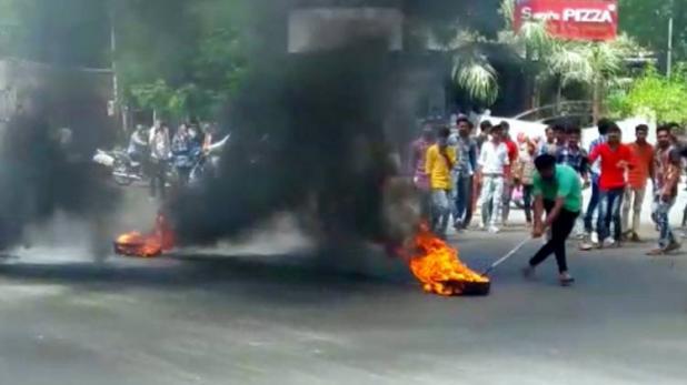 आंबेडकर की प्रतिमा हटाए जाने पर दलितों ने गुजरात में की तोड़फोड़