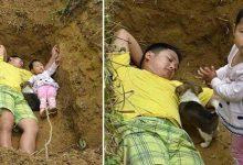 बेटी के साथ कब्र में सोता है पिता, क़ब्र में ही बच्ची के साथ खेलता है लियांग