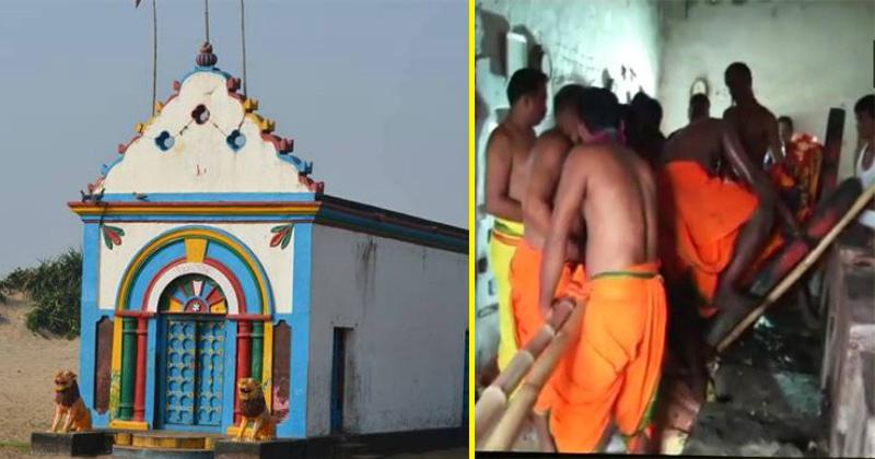 पंचबाराही मंदिर, पंचबाराही मंदिर में पुरुषों का जाना था मना
