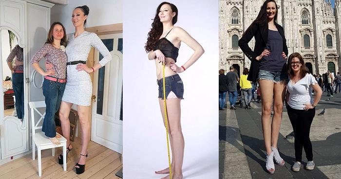 Photo of ये है दुनिया की सबसे लम्बी टांगों वाली महिला, जो भी देखता है बस….