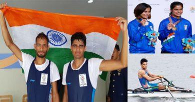 एक ही दिन में भारत की रोईंग मेंस टीम ने गोल्ड सहित जीते तीन मेडल, रचा इतिहास