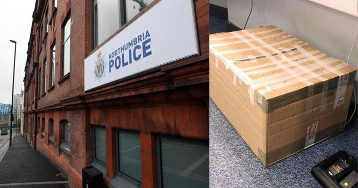 पुलिस स्टेशन में आया अनोखा पार्सल, बॉक्स खोलकर देखा तो निकल गयी सबकी चीख
