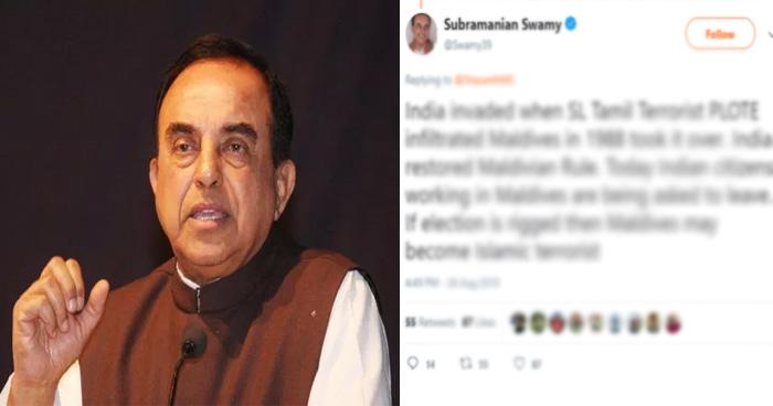 सुब्रमण्यम स्वामी के एक ट्वीट की वजह से भड़क गया भारत का पुराना साथी यह देश