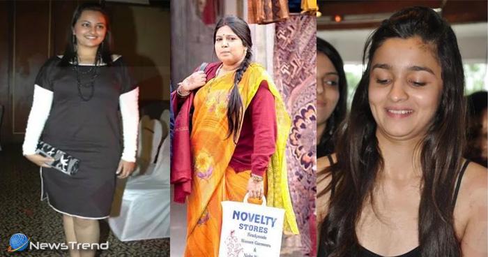 फिल्मों में आने से पहले बहुत मोटी दिखती थी ये बॉलीवुड हीरोइन, चौथी अभिनेत्री का वजन था 90 किलो