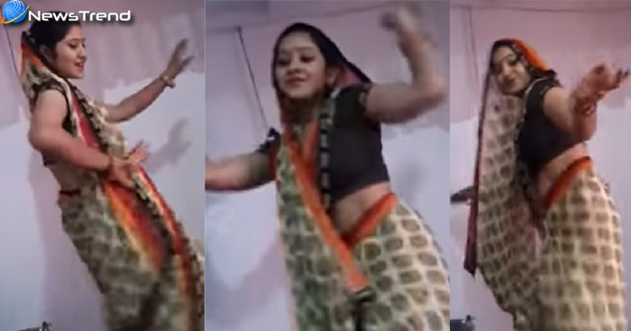 Photo of Video : साड़ी पहनकर भाभी जी ने किया ऐसा डांस, सपना चौधरी भी इनके आगे फेल