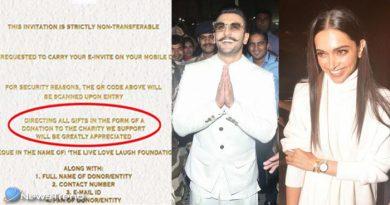 रणवीर-दीपिका ने रिसेप्शन में आने वाले गेस्ट्स के सामने रखी ये शर्त, बोलें 'गिफ्ट्स यहां दें'