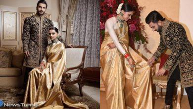 वेडिंग पार्टी में दीपिका ने पहनी सबसे महंगी साड़ी, लाखों में बिकी रिसेप्शन-शादी की ड्रेस