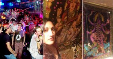 VIP पब के टॉयलेट में दिखे देवी देवता, घटना से मचा बवाल