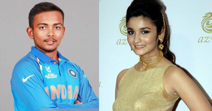 क्रिकेट जगत की नई सनसनी पृथ्वी शॉ से शादी करना चाहती है आलिया भट्ट, बताया ये वजह