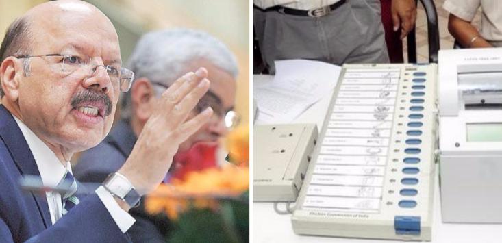 कांग्रेस के आरोप पर चुनाव आयोग की सफाई 'ईवीएम सही, अधिकारी गलत'