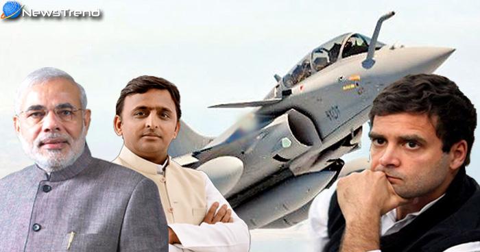 राफेल डील पर पीएम मोदी के साथ आए अखिलेश यादव, राहुल को लगा बड़ा झटका
