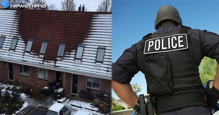 इलाके में पड़ रही थी भारी बर्फबारी, लेकिन एक घर पर नहीं जमी बर्फ, पुलिस के छापे पर उठा रहस्य से पर्दा
