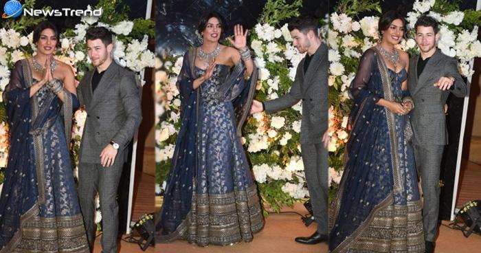 Priyanka-Nick Reception: इंडो और वेस्टर्न लुक में प्रियंका ने अपने रिसेप्शन पर ढाया कहर