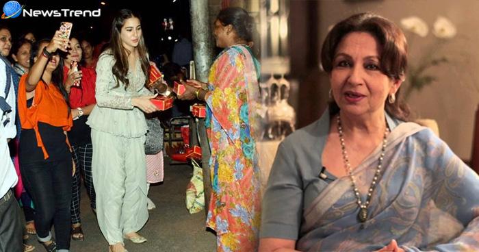फिल्म रिलीज होने के बाद मंदिर पहुंची सारा अली खान, तो दादी बोली 'मेरी पोती..