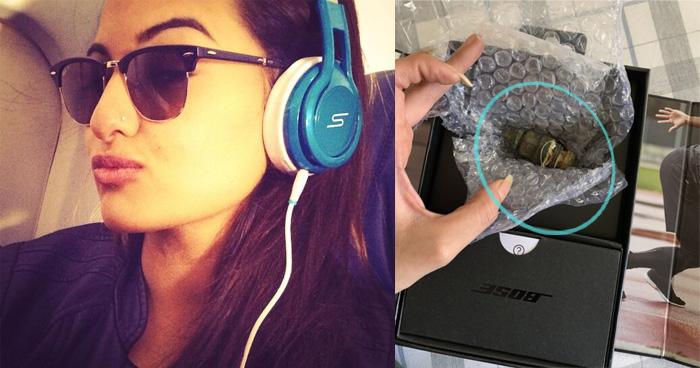ऑनलाइन कंपनी ने सोनाक्षी सिन्हा के साथ की धोखाधड़ी, बॉक्स में 18 हजार के हेडफोन के बदले मिला ये