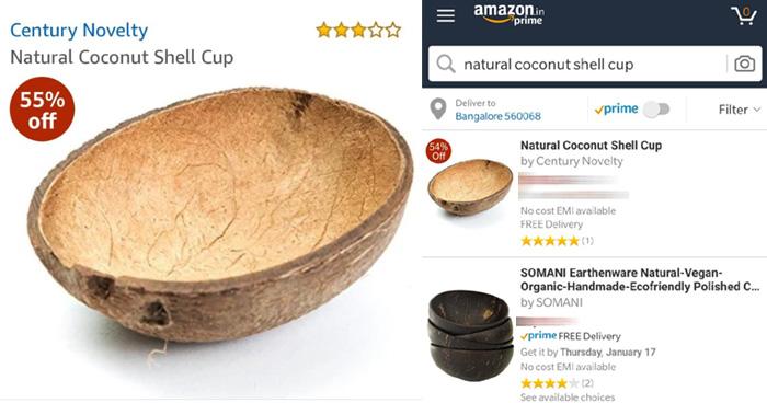 Amazon पर बिक रहा है नारियल का छिलका, कीमत जानकर माथा पकड़ लेंगे आप