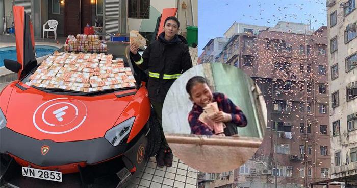 गरीबों का मसीहा बनने की चाह में लड़के ने उड़ा दिए 2,00,000 डॉलर,वायरल हुईं घटना की तस्वीरें-देखिए