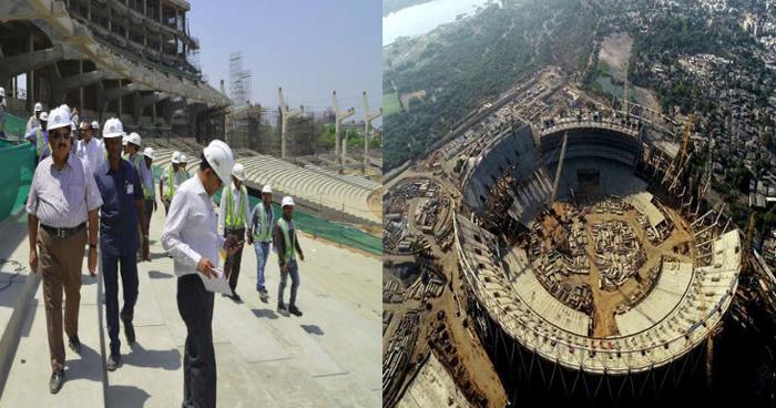 सामने आई भारत में बन रहे दुनिया के सबसे बड़े क्रिकेट स्टेडियम की पहली तस्वीर, यहां देखिये