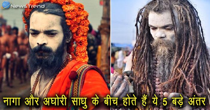 कुंभ 2019 : नागा और अघोरी साधु के बीच होते हैं ये 5 बड़े अंतर, ज़रूर जाने