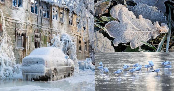 ठंड ने सब कुछ जमा दिया है, गाडी, मोटर, कार, पंछी सब को, ये है दुनिया का सब से ठंडा शहर
