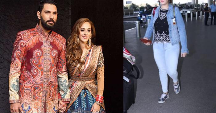 शादी के 3 साल बाद नज़र आईं युवराज सिंह की पत्नी, हालत देखकर पहचानना हुआ मुश्किल