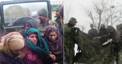 बर्फबारी में ढाई किलो मीटर पैदल चल, भारतीय सेना ने बचाई गर्भवती महिला की जान