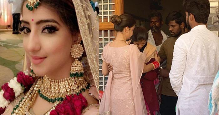 Photo of शादी के तुरंत बाद यह एक्ट्रेस पहुंची पुलवामा में शहीद जवान के घर, कहा-इस तरह से कर सकती हूं मदद