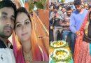 """पत्नी सावित्री ने दुल्हन के जोड़े में दी """"पुलवामा"""" शहीद पति को विदाई, मंजर देख रो पड़ा गाँव"""