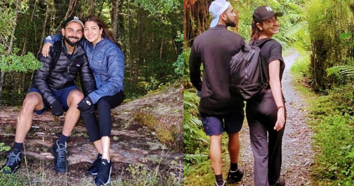 न्यूज़ीलैंड के जंगलों में घूमते नजर आए विराट और अनुष्का, शेयर की अपनी तस्वीर