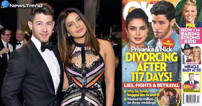 Photo of विदेशी मैगजीन का दावा, 'शादी के चंद महीने बाद ही प्रियंका-निक में अनबन, जल्दी होगा तलाक'