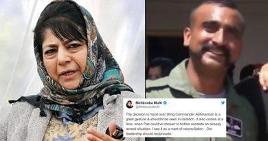 वतन लौट रहे IAF पायलट अभिनंदन के लिए महबूबा मुफ्ती ने किया ट्वीट, कहा- कमांडर को रिहा करना...