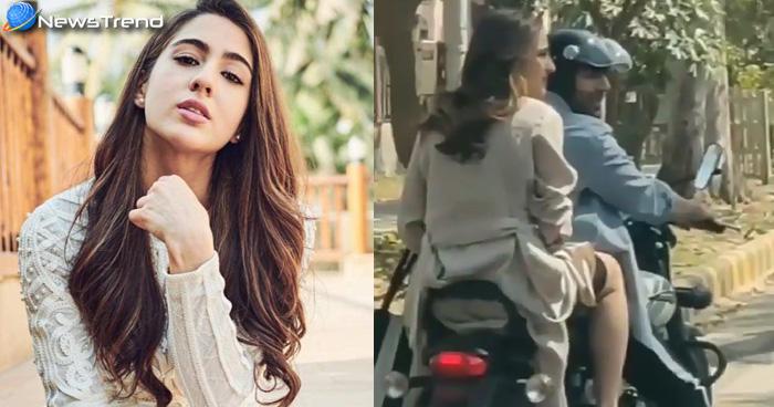 Photo of बाइक पर बैठी सारा ने कार्तिक आर्यन के साथ की ऐसी हरकत, सोशल मीडिया पर मच गया बवाल
