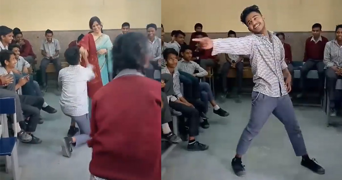 Photo of वीडियो में देखें स्टूडेंट और टीचर्स का अनोखा  रिश्ता,  टीचर को बना लिया अपना डांस पार्टनर