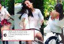 साइकिल चलाती हुई दिखीं मलाइका अरोड़ा, तो लोग बोलें 'मैडम, मुंबई में तो गाड़ी में घूमती हो'