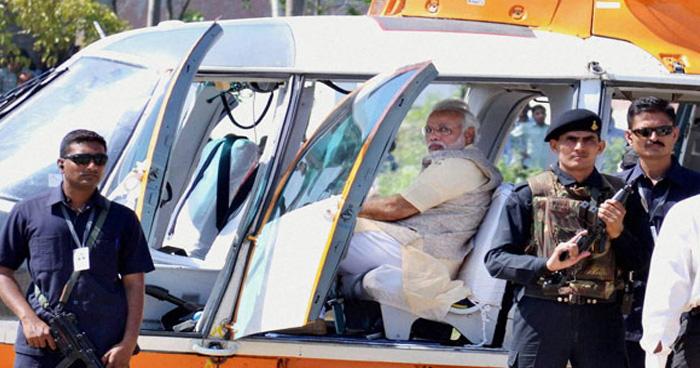 मोदी के हेलिकॉप्टर की चेकिंग करने वाला अफसर हुआ निलंबित, चुनाव आयोग ने कहा चेकिंग का अधिकार नहीं था