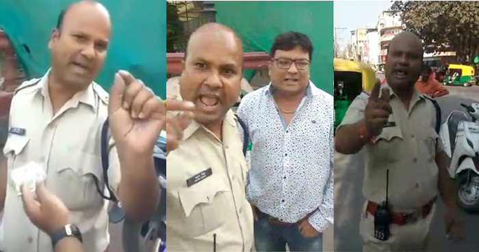 'कांग्रेस का राज है, यहां रहना है तो माननी होगी बात', यहाँ पुलिसवाले को खुलेआम धमकाते दिखा शख्स