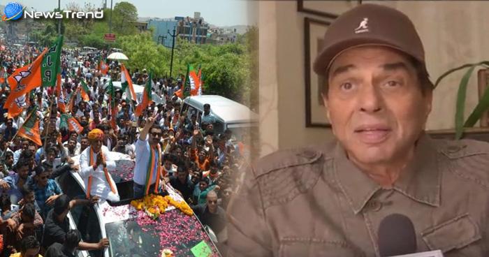 Photo of सनी के गुरदासपुर रोड शो में आई विशाल भीड़ को देख इमोशनल हुए धर्मेंद्र, सिद्धू के लिए कही ये बात