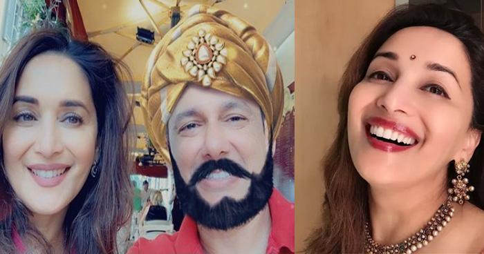 माधुरी के पति श्रीराम नेने का बदला अंदाज, धक-धक गर्ल के बने महाराजा तो लोगों ने की जमकर तारीफ