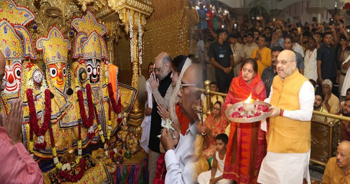 Photo of पत्नी संग सुबह 4 बजे जगन्नाथ भगवान की आरती करते दिखे अमित शाह, देखे Video