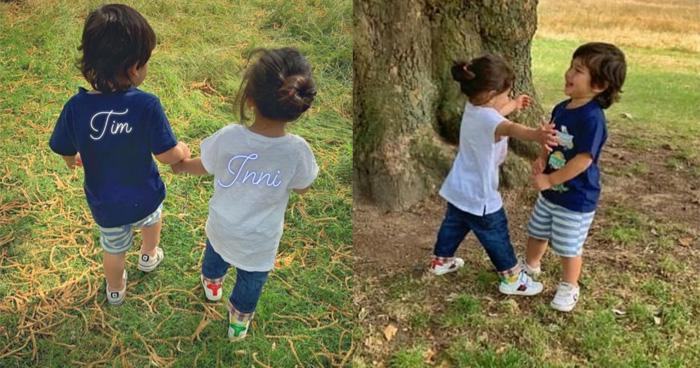 Photo of कौन हैं ये बच्ची जिसका हाथ पकड़ गार्डन में घूम रहा तैमुर अली खान