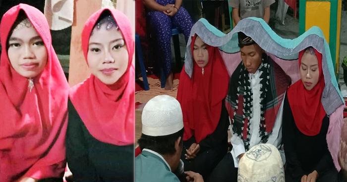 Photo of इन जनाब ने अपनी दोनों गर्लफ्रेंड्स से की एकसाथ शादी, लोग बोले 'प्रभु आपके चरण कहाँ हैं'