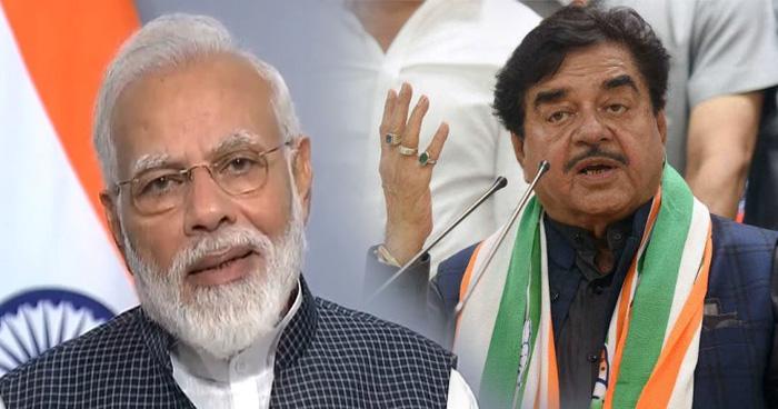 BJP पार्टी के बागी नेता शत्रुघ्न सिन्हा ने की मोदी की तारीफ, कहा आप देश के सबसे प्रिय PM हैं