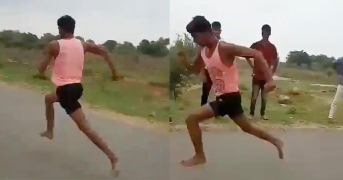 100 मीटर की दौड़ सिर्फ 11 सेकंड में पूरी करने वाले 'देसी उसेन बोल्ट' ने मचाई सनसनी, Video वायरल