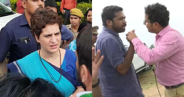 Photo of Video: प्रियंका गांधी के गुंडों ने पत्रकार को दी धमकी, कहा- 'ठोक के बजा दूँगा यहीं'