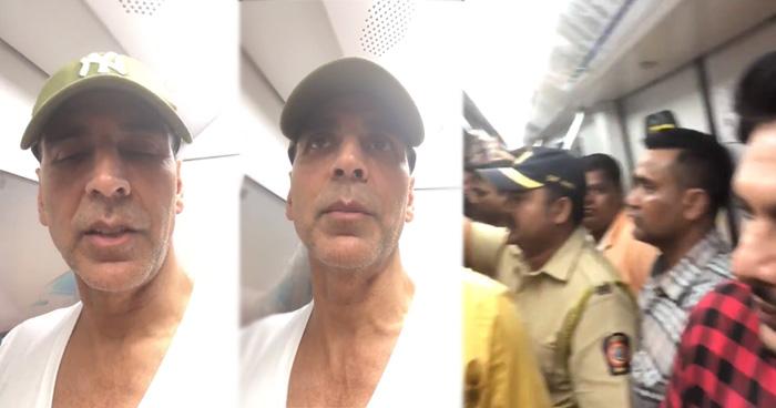 Photo of आम आदमी बन ट्रेन में घुसे अक्षय कुमार, सफ़र के दौरान नहीं पहचान पाए लोग, देखे Video