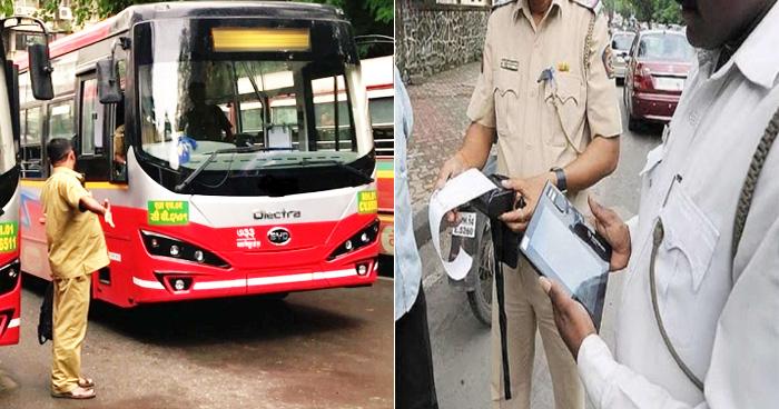 Photo of हेलमेट नहीं पहनने पर कटा बस चालक का चालान, ड्राइवर ने कहा- 'कोर्ट जाऊंगा और फिर…'