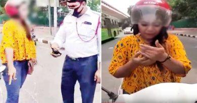 दिल्ली की सड़क पर सरेआम इस लड़की ने दिखाया हाईवोल्टेज ड्रामा, फिर बचाया हजारों का चालान