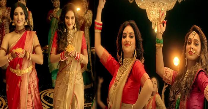 Photo of दुर्गा पूजा के गाने पर जमकर थिरकीं नुसरत जहां-मिमी चक्रवर्ती, सोशल मीडिया पर छाया वीडियो
