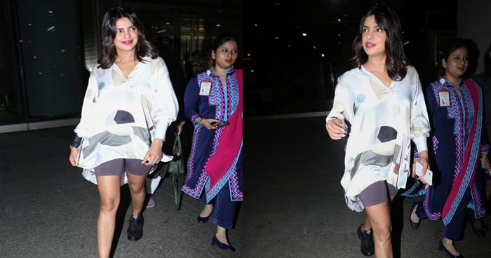 Photo of 6 महीनें बाद भारत लौटीं प्रियंका चोपड़ा, मुंबई एयरपोर्ट पर 'देसी गर्ल' ने दिखाया टशन
